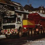 Steinbach am Wald; Culemeyer-Verkehr zwischen Steinbach am Wald und Tettau. Impressionen von diesem interessanten Güterwagenverkehr auf den Straßen des Frankenwaldes. Aufnahmedatum: 28. Dezember 1995.