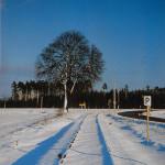 An einem sonnigen Wintertag 1978 bei Thannhausen, zwischen Freystadt und Sulzbürg.