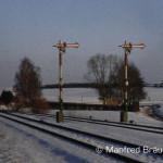 Ausfahrsignale in Fremdingen am 12. Februar 1984.